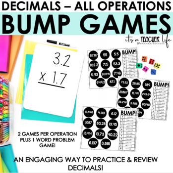 Decimals BUMP Game // Add, Subtract, Multiply and Divide Decimals