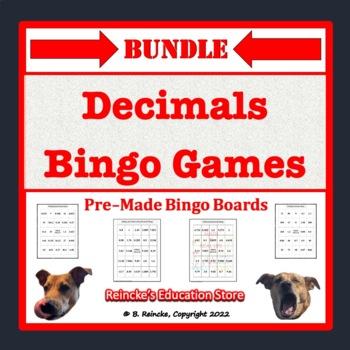 Decimals Bingo Bundle (5 pre-made games!)