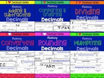 Decimals Bundle-Adding, Subtracting, Dividing, Multiplying
