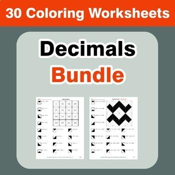 Decimals Coloring Worksheets Bundle