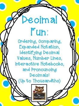 Decimals: Compare, Order, Number Line, Expanded Notation,