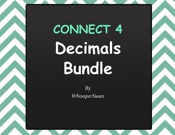 Decimals - Connect 4 Game Bundle