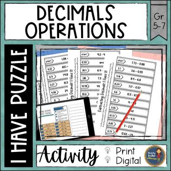 Decimal Operations Digital Interactive I Have It Google Drive