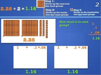 Decimals: Dividing a Decimal by a Whole Number: MAC PowerP