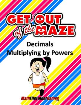 Decimals Worksheets/Mazes - Multiplying by Powers of Ten