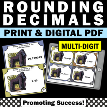 Rounding Decimals 5th Grade Common Core Math Games