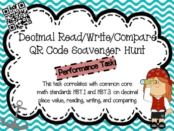 Decimals Scavenger Hunt (Read, Write, Compare, Round)