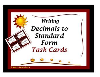 Decimals: Standard Form