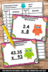 Multiplying Decimals by Whole Numbers 5th Grade Common Core Math