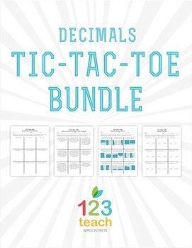 Common Core Decimals Tic Tac Toe BUNDLE! Partner Review Activity