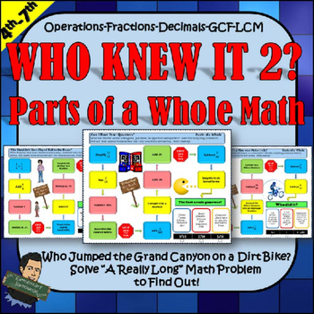 Decimals and Fractions Activities Who Knew it Series