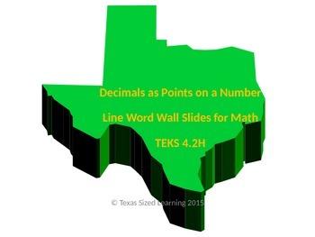 Decimals as Points on a Number Line, New Math TEKS 4.2H, V