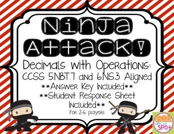 Decimals with Operations: Ninja Attack! Game CCSS 5.NBT.7