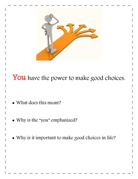 Decision Making and Character Education Lesson