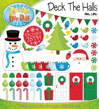 Deck The Halls Christmas Clip Art — Over 70 Graphics!