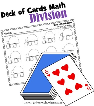 Deck of Cards Math - Division