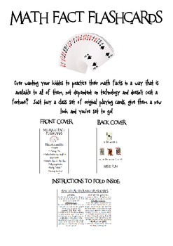Deck of Cards Math Facts