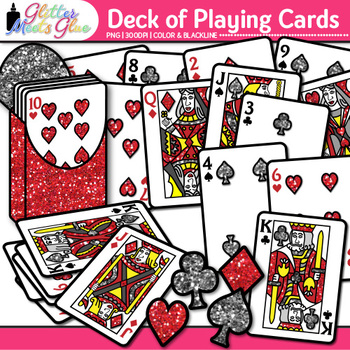 Deck of Playing Cards Clip Art {Great for Math Games and C