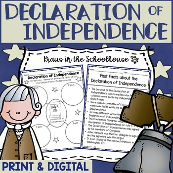 Declaration of Independence Research Activities and Graphi