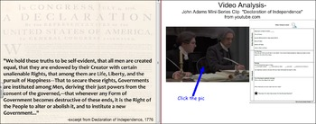 Declaration of Independence Activities: Movie Clips, Close