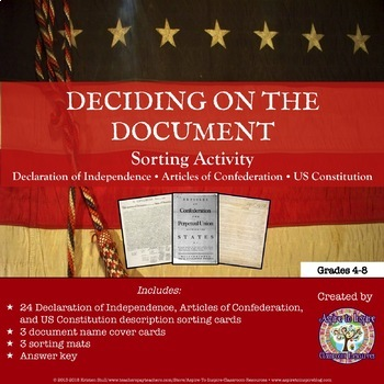 Declaration of Independence, Articles of Confederation, &