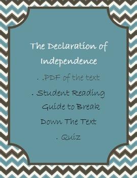 Declaration of Independence BUNDLE
