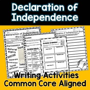 Declaration of Independence Creative Writing Word Splash