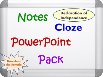 Declaration of Independence Pack (PPT, DOC, PDF)