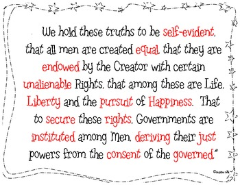 Declaration of Independence Social Contract Project