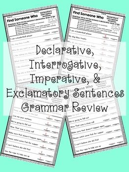 Kagan- Find Someone Who: Sentence Type Grammar Review