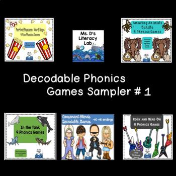 Decodable Phonics Game Sampler # 1