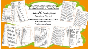 Decodable Reader BUNDLE - 30 Stories in All! Practice Phon