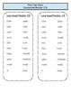 Reading Street Unit 1- Decodable Word List for Stories 2-5