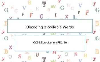 Decoding 2-syllable words