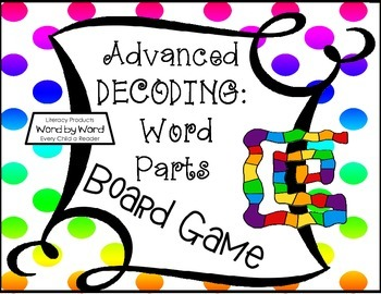 Decoding Through Recognizing Word Parts Board Game