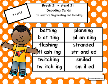 Decoding Cards with 2/3 syllables Bundle