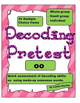 """Decoding Phonics Assessment - """"oo"""""""