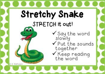 Word Decoding Reading Strategies (Beanie Babies) Posters-