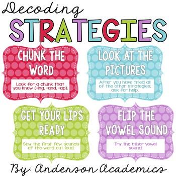 Decoding Strategies - Classroom Poster Set