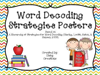 Decoding Strategies Posters in Primary Colors
