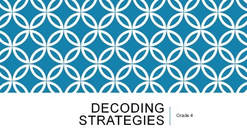 Decoding Strategies - Teaching PowerPoint and Handout