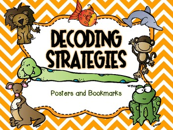 Decoding Strategies for Emergent Readers -- Posters and Bookmarks