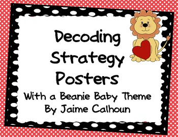 Decoding Strategy Posters {Beanie Baby Red and Black Polka Dot}