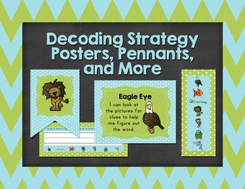 Decoding Strategy Posters, Pennants, Deskplates, and Bookmarks