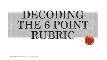 Decoding the NJASK 6 Point Holistic Rubric