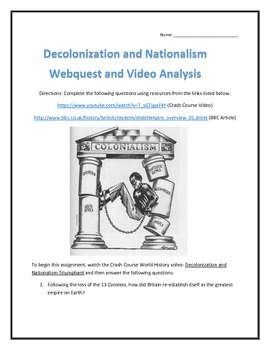 Decolonization and Nationalism- Webquest and Video Analysi