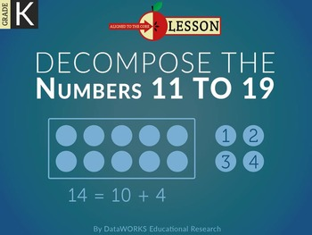 Decompose the Numbers 11 to 19