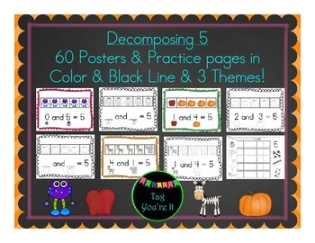 Decomposing 5: Posters & Practice Pages for Back to School
