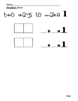 Decomposing Numbers --> 1,2,3