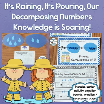 Decomposing Numbers 3-10 Center & Assessment / Practice Pa